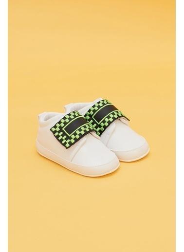 BG Baby Erkek Bebek Beyaz Patik Beyaz